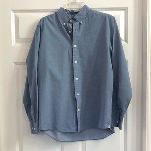 Michael Kors Blue Dot Pattern Button Down Shirt